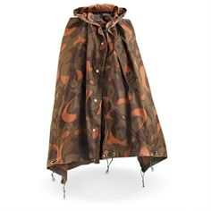 Surviving In Style - Hungarian Camo Poncho/Shelter - Case of 4, $89.99 (http://www.survivingnstyle.com/featured-products/hungarian-camo-poncho-shelter-case-of-4/)