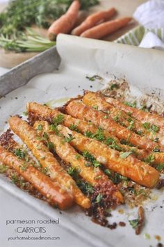 Parmesan Roasted Carrots - the perfect way to get your family to eat their vegetables.