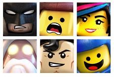 "LEGO MOVIE Canvas Pictures Prints Bedroom Art 6 designs 10X10"" 25X25CM"