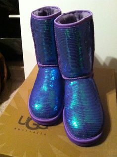 I really do not like UGG Boots - But, these Neon Violet Purple Sequins boots are cute!