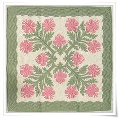 Hawaiian Quilt Pattern - Hibiscus