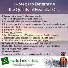The Quality of Essential Oils