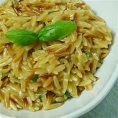 """Orzo with Parmesan and Basil 