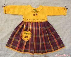 Üstü Örgü Altı Kumaş Bebek Elbisesi ,  #kumaşlakarışıkörgümodelleri #örgükumaşkarışımımodeller #örgüvekumaşkarışımıelbiseler #üstüörgümodeli , Yaz için uygun çok şık bir elbise. Alt kumaşını ve üst örgüsünü değiştirerek kış içinde örebilirsiniz. Kızlarınız için kumaş ve...