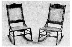 """Helen Dorsett (1985). Eastlake Nursing Chair (c. 1887). Complete 1"""":1' plans, patterns, and instructions. In The Scale Cabinetmaker, Volume 9:2. Issue available as digital download from dpllconline.com. Issue price: $6."""