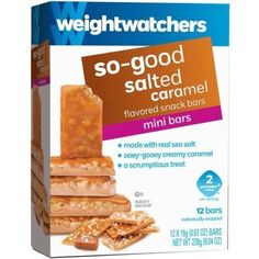 2 PP Weight Watchers SO GOOD SALTED CARAMEL Snack Bars 1 Box = 12 Sealed Snack Bars. These are so delicious! They remind me of the Pecan Pralines we used to buy at Stuckeys.