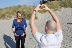Me and my love waiting for our baby boy. #beach #heart #love #babybump
