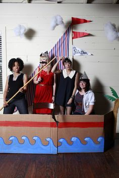 Here are the pictures from photo booth at our Anniversary Party by the talented Paige . This was such a fun idea & also inexpensive. Nautical Photo Booth, Pirate Photo Booth, Nautical Party, Man Birthday, Birthday Party Themes, Theme Animation, Sailor Party, Grown Up Parties, Themes Photo