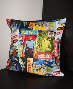 STAR TREK Comic Book Pillow Cover  18 inch by ModernMagpiePDX, $17.00