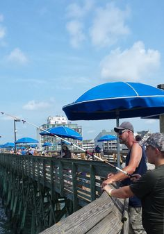 How about a little Father-Son Bonding time? Start with some fishing on one of the local piers in the Myrtle Beach area! Photo taken on the Garden City Beach Pier, just south of Myrtle Beach, SC. South Carolina Coast, Garden City Beach, We Are The World, Father And Son, Water Garden, Myrtle, Vacation Destinations, The Locals, Fishing