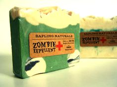Zombie Repellent Soap great gift for men nerds by saplingnaturals (PERFECT stocking stuffer for my fellow WD guys!!)