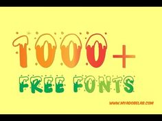awesome 1000 fonts Pack - Free Download