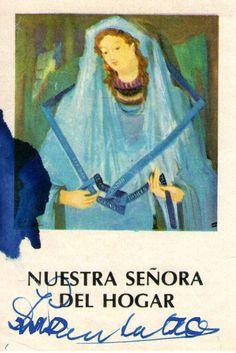 Nuestra Señora del Hogar - Estampa obsequiada por Padre José Mario Pantaleo.