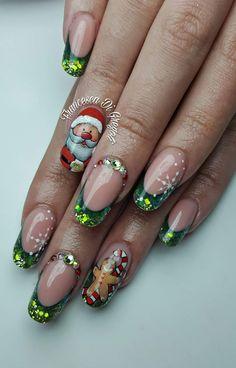 Red Christmas Nails, Xmas Nails, Christmas Nail Designs, Holiday Nail Art, Winter Nail Art, Winter Nails, Toe Nail Designs, Nail Polish Designs, Love Nails