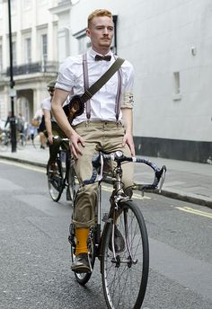 Untitled (a man taking part in the Tweed Run 2014) via Russ McClintock