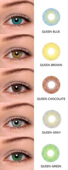 ttdeye.com hot sale contact lenses:Queen series.They are Queen blue ,Queen Brown,Queen Chocolate,Queen Gray and Queen green