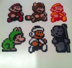 Super Mario Bros. 3 Perler 8bit Figures with or by 8bitBodega