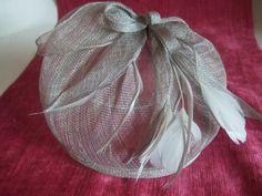 OFF Silver grey looped hessian hatinator on by GlamorousLadies Facinator Hats, Wedding Hats, Hessian, Communion, Reusable Tote Bags, Grey, Silver, Fashion, Gray