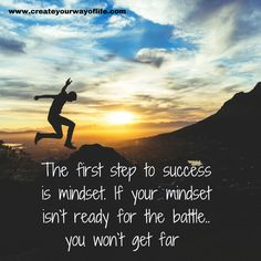 First prepare your mindset for the struggle. #mindset #positive