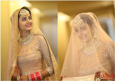 Beautiful Bride with a charming smile! All dressed at Kittn for her special day. Make - up by Ritu. Hair by Tashi.