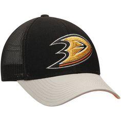 2d8857cda19 Men s Reebok Black Anaheim Ducks Center Ice Travel   Training Adjustable Hat