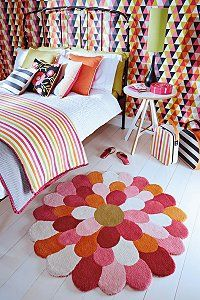 Colourful and Fun - rugs for Children's rooms from Harlequin - find out more:  http://www.ukhomeideas.co.uk/ideas/tiles-flooring/rugs/harlequins-new-fun-loving-rugs-for-childrens-rooms/