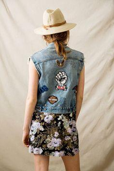 Vintage Levi's Patched Denim Vest #urbanoutfitters