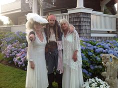 """Jen, Kaena & Captain Jack.  To watch the episodes of """"Celebrating 34 Magical Years with Kirks Folly at Seaview"""" go to Kirks Folly's Facebook page and click on the link!"""