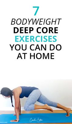 7 deep core exercises you can do at home to strengthen your core. These beginner core exercises will protect you from back pain, spinal damage and help you get relief from lower back pain too. Transverse Abdominal Exercises, Back Pain Exercises, Abdominal Muscles, Core Strengthening For Back Pain, Stretches, Weight Exercises, Best Core Workouts, At Home Workouts, Running Workouts