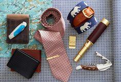 A tie clip & telescope make classy men's gifts.