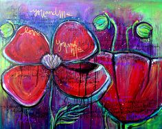 Poppies For Sonja Painting