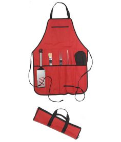 TRAVEL CHEF BBQ SET | Barbecue Tools Gift Set, Grill Utensils, Apron | UncommonGoods