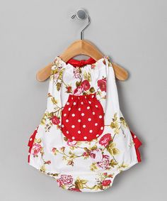 19.99 Take a look at this Red Rose Bubble Bodysuit - Infant by Ruby and Rosie on