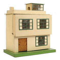 Amersham British made wooden Ultra-Modern flat roofed Dolls House, 1930s/40s Sunhouse