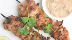 Show details for  Chicken Satay with Peanut Sauce and Cucumber Relish