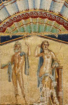 Ercolano. Parco Archeologico,Casa di Nettuno e Anfitrite, affresco  - id: 8631
