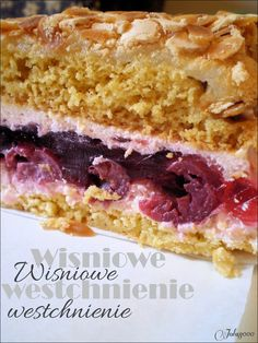 Cake Recipes, Dessert Recipes, Desserts, Hungarian Cake, Polish Recipes, Food Cakes, Relleno, Cake Cookies, Sandwiches