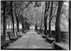 Meridian Hill Park in DC - captured by the government and a huge high-res file available for free in the Library of Congress' online archives. It is THE BEST place to find really cool images to print for large-scale artwork. #art #photograph #free