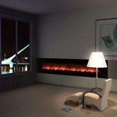 The AL100CLX Ambiance Electric Fireplace by Modern Flames