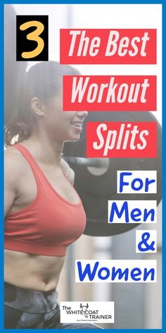 Here are the 3 best workout splits you can do to to create a weekly routine. They work for both men and women and cover and 5 day workouts. Start seeing results today! Best Workout Split, 4 Day Workout, Push Pull Workout, Workout Splits, Best Gym Workout, Workout Tips, Workout Plan For Beginners, Workout Plan For Women, Fitness Workout For Women