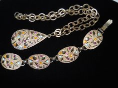 Sarah Coventry Sultana Necklace and Bracelet Set Multi-Color Confetti Vintage Signed by JanesVintageJewels on Etsy