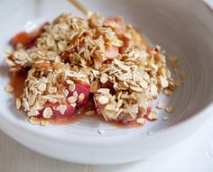 strawberry rhubarb apple oatbake - a house in the hills - interiors, style, food, and dogs