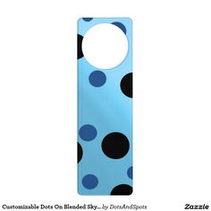 Customizable Dots On Blended SkyBlue Door Hangers