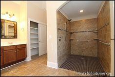 master bathroom | Accessible bathroom shower design
