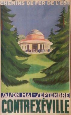 Chemins de fer de l'est - Contrexéville - 1930 - illustration de Don - France -