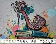Literatura pe tocuri (mai rar) | Bookcaffe Mai, Painting, Literatura, Painting Art, Paintings, Painted Canvas, Drawings