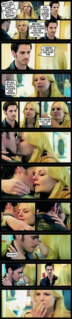 """Emma and Hook - 4 * 9 """"Fall"""" #CaptainSwan - Comic Style"""