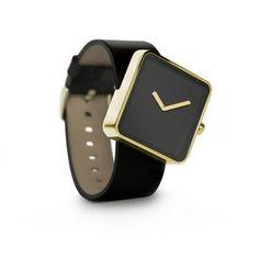 My design inspiration: Slip Watch Gold-Tone Black on Fab.