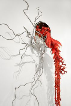 Bird of Protection (coral and lightening), 2011    http://mandygreer.wordpress.com/