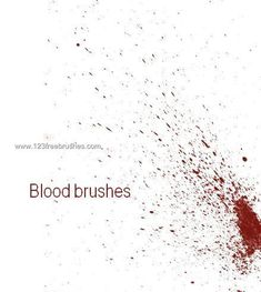 Blood 4 - Download  Photoshop brush http://www.123freebrushes.com/blood-4-2/ , Published in #BloodSplatter, #GrungeSplatter. More Free Grunge & Splatter Brushes, http://www.123freebrushes.com/free-brushes/grunge-splatter/ | #123freebrushes